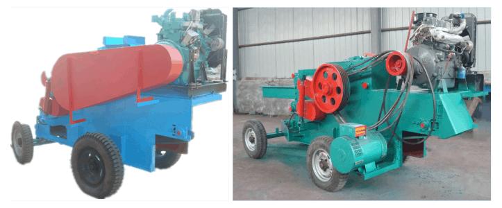 Diesel engine chipper