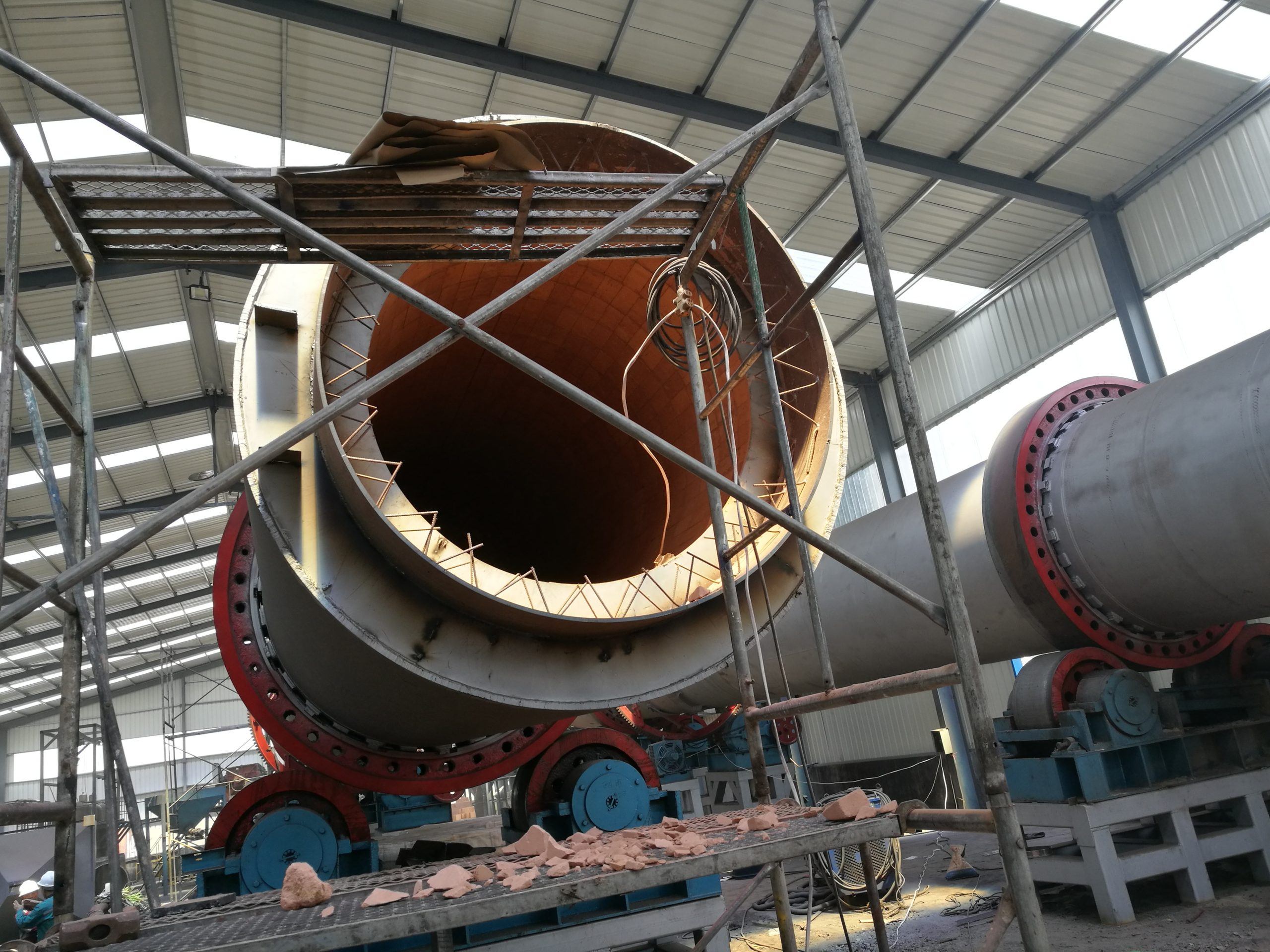 activated carbon rotary kiln structure