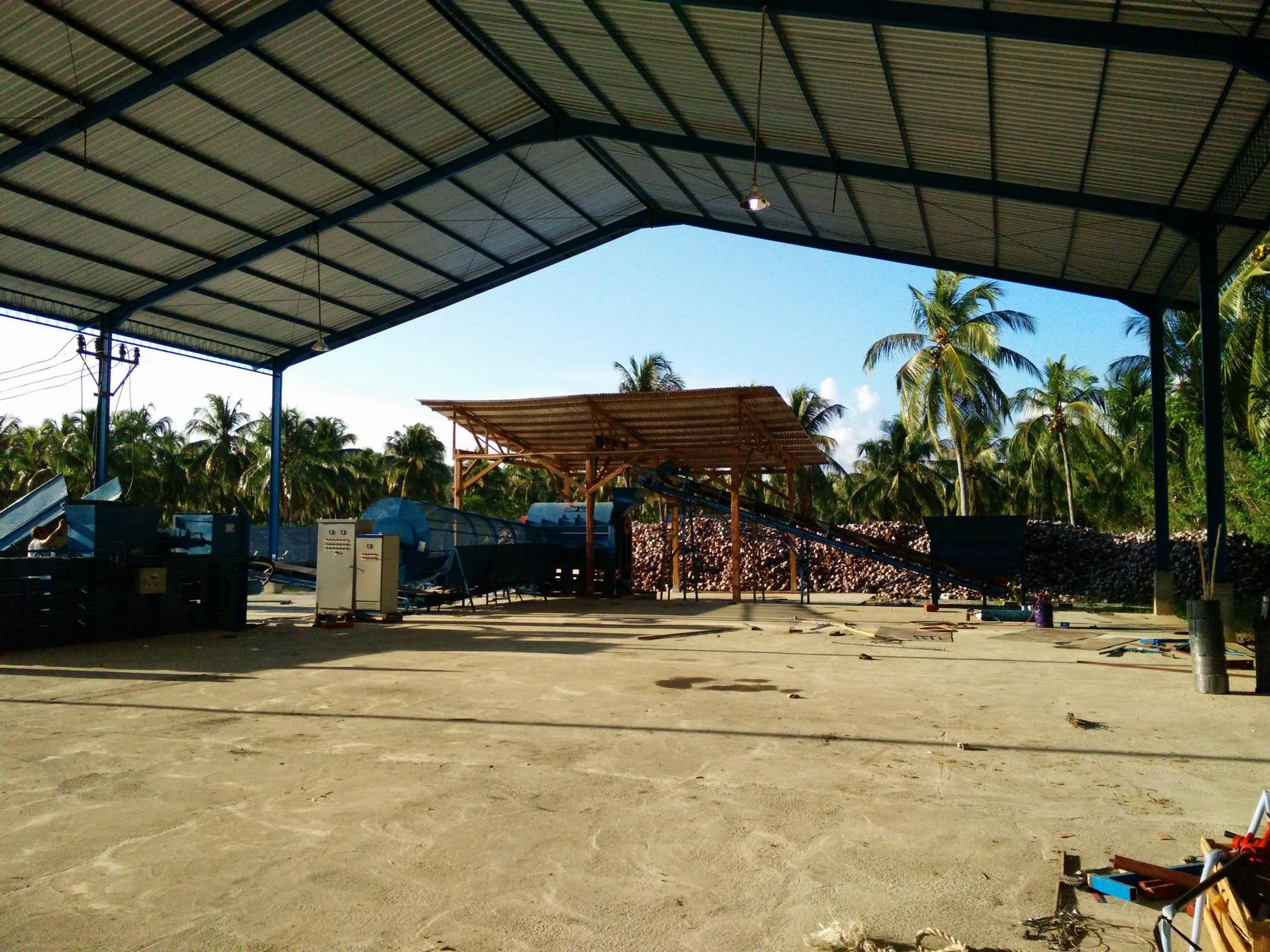 palm long fiber production line