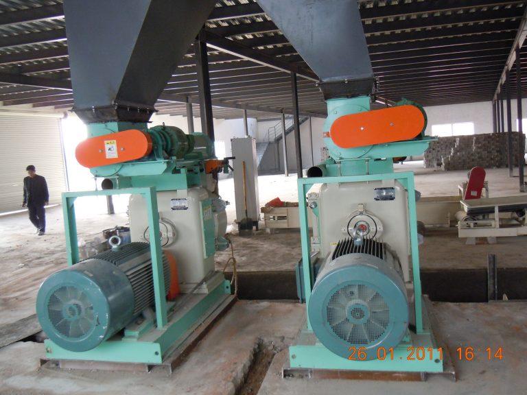 wood pellet mill installation