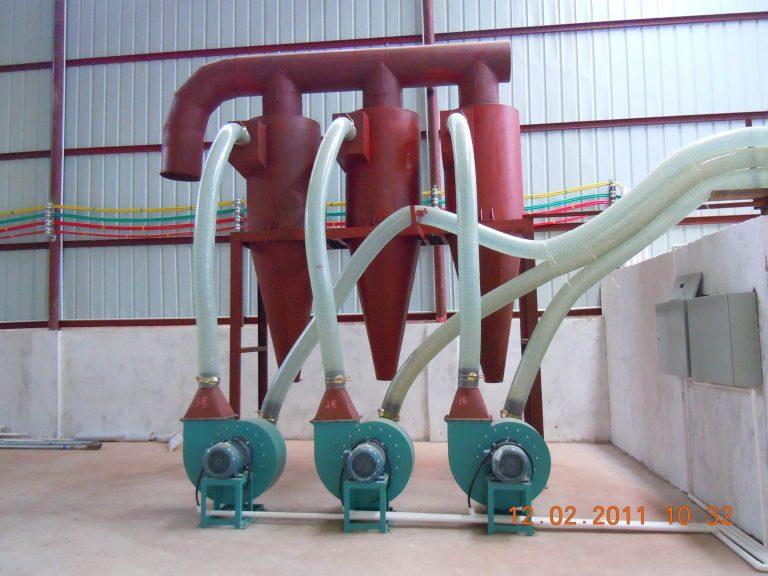 wood pellet plant fan