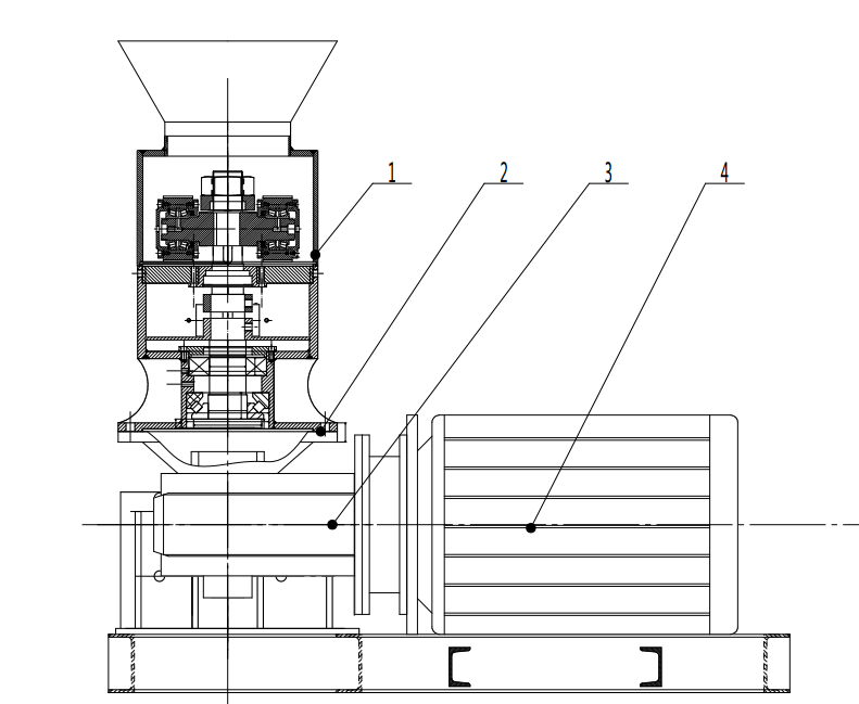 small pellet mill drawing