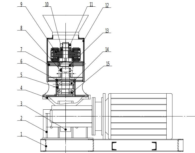 small pellet mill structure